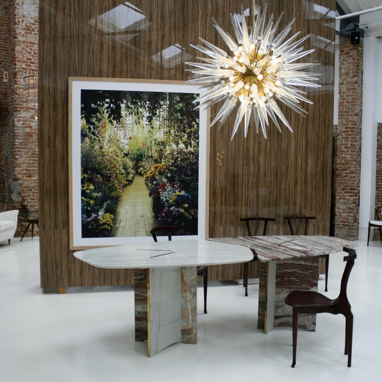 Italian Suspension Lamp Made in Murano in Star Form For Sale