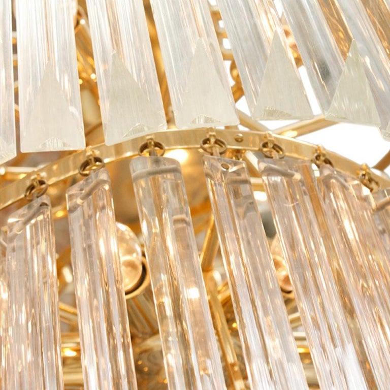 French Venini Glass Suspension Lamp For Sale
