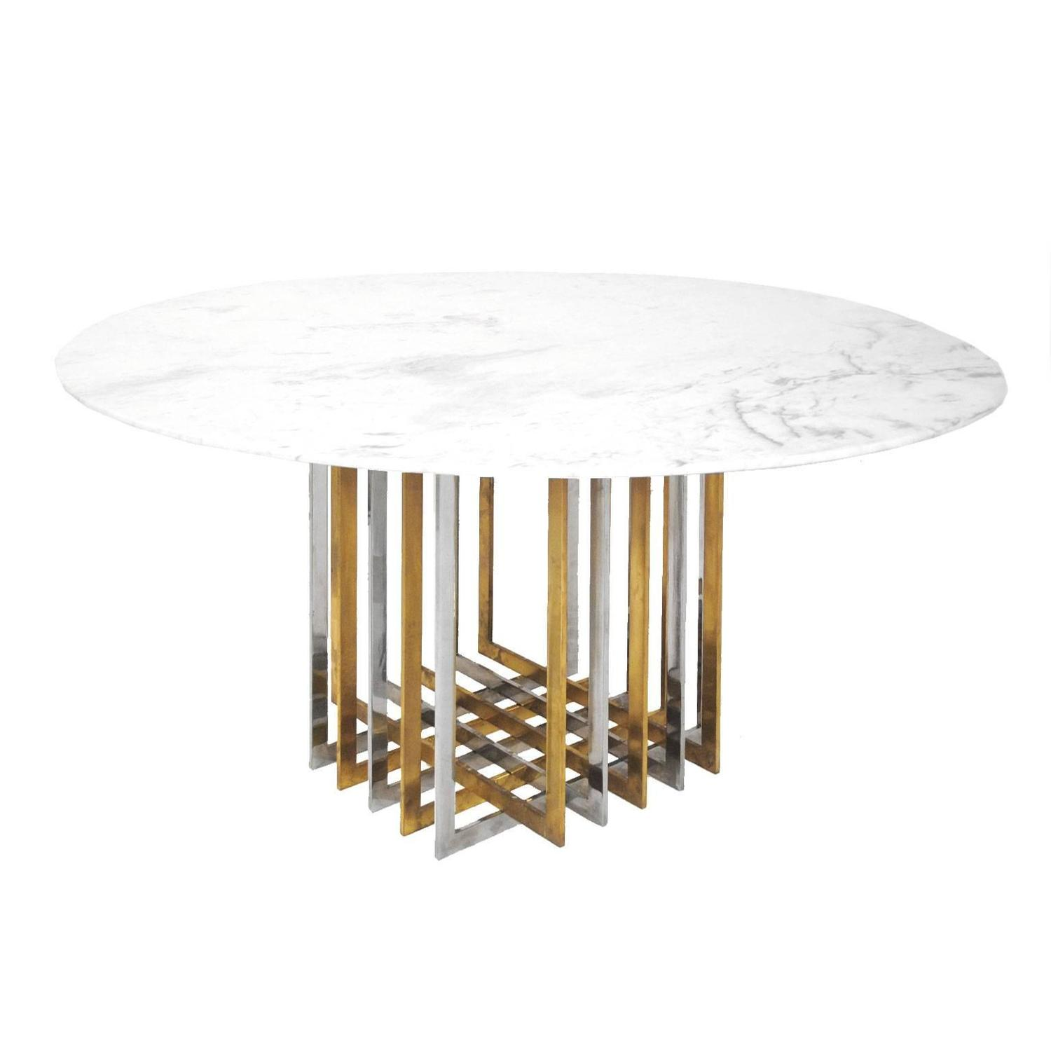 Willy rizzo pedestal table at 1stdibs for Table willy rizzo