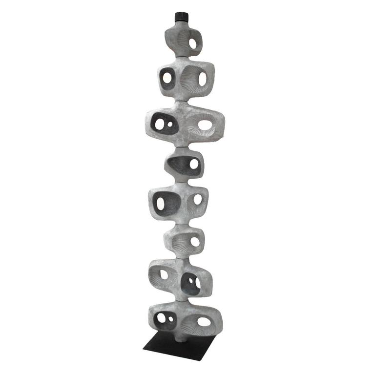 Sculptural Concrete Totem by Jonathan Adler For Sale
