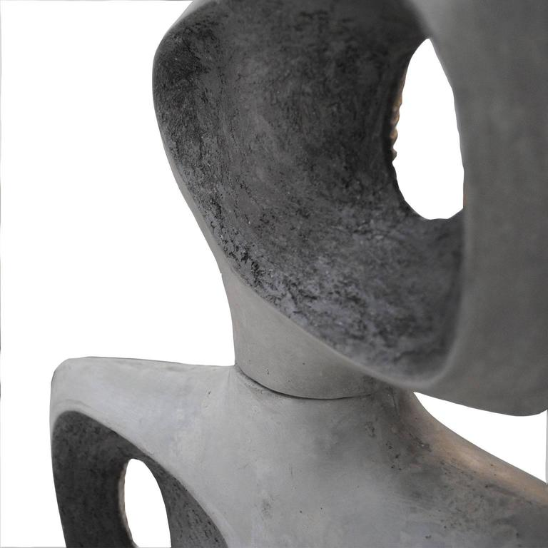 American Sculptural Concrete Totem by Jonathan Adler For Sale