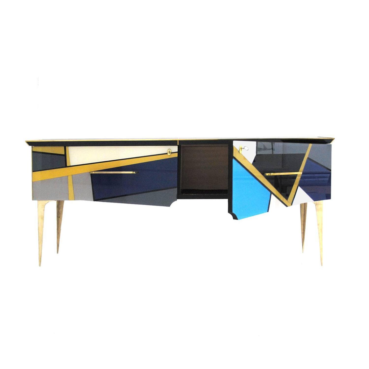 Sideboard covered in murano glass at 1stdibs for Sideboard glas