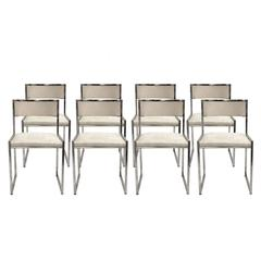 Set of Eight Chairs Designed by Willy Rizzo