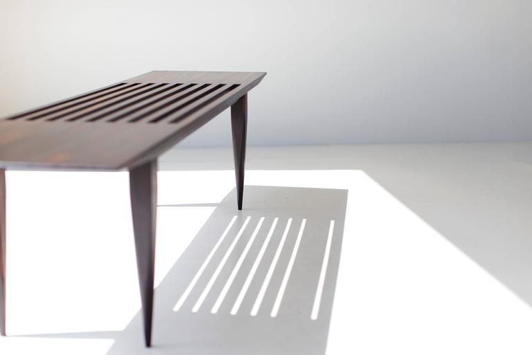 Craft Associates Slatted J Bench 1602 For Sale At 1stdibs