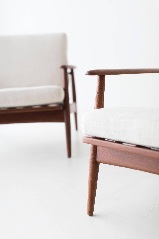 Danish Teak Lounge Chairs for Moreddi For Sale at 1stdibs