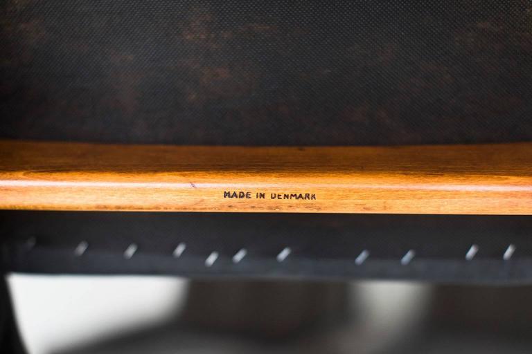 Leather Ib Kofod-Larsen Chair for Christensen & Larsen For Sale