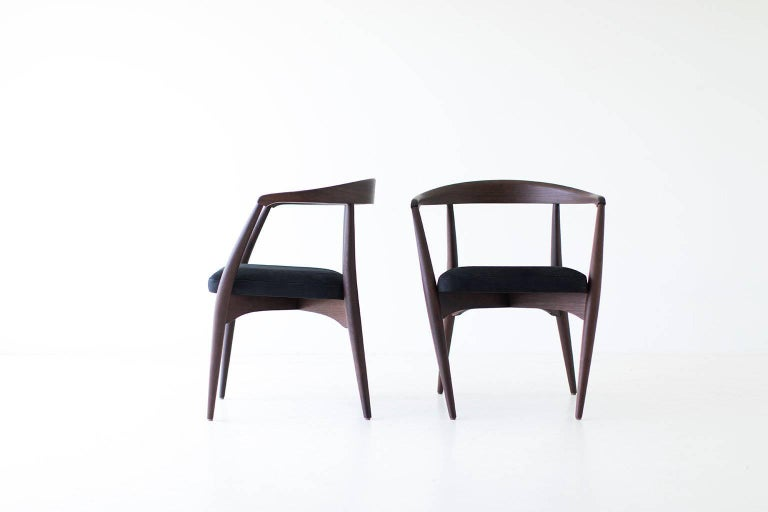 Lawrence Peabody Dining Chairs for Craft Associates In Excellent Condition For Sale In Oak Harbor, OH
