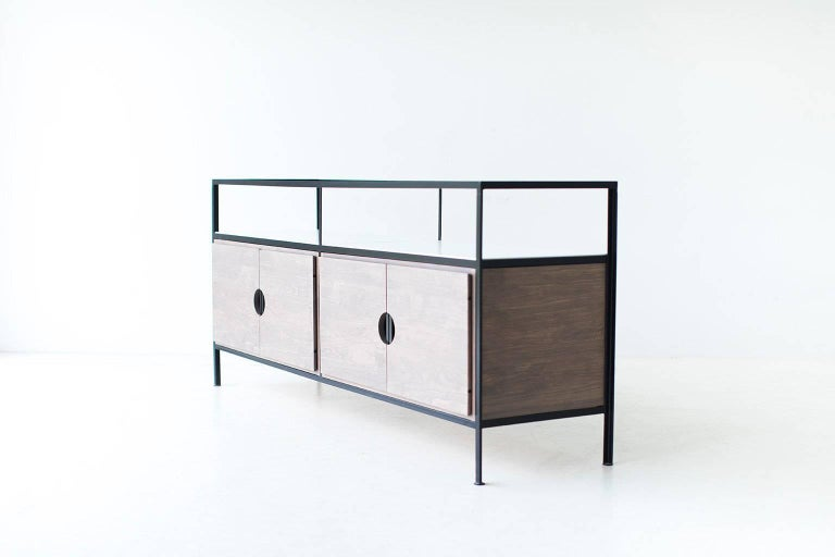 Metal Modern Iron Credenza For Sale