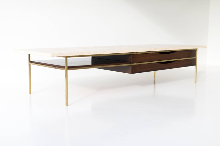 Mid-20th Century Paul McCobb Brass Coffee Table for Calvin Irwin Collection For Sale