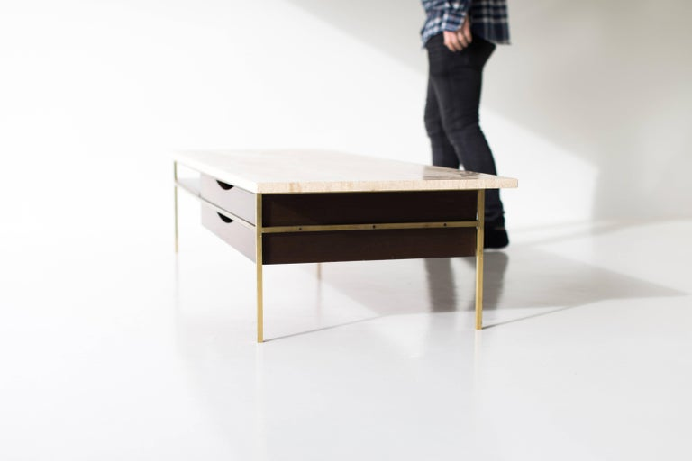 Paul McCobb Brass Coffee Table for Calvin Irwin Collection For Sale 4
