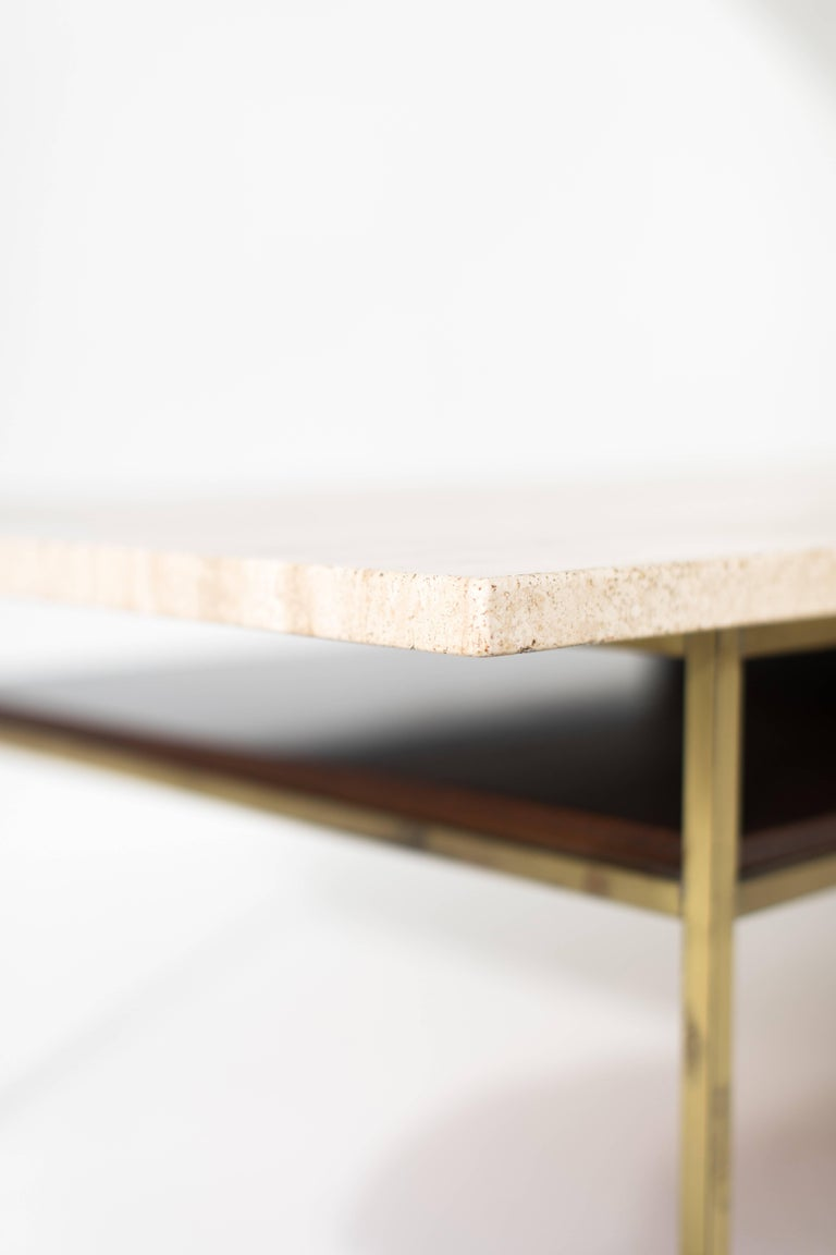 American Paul McCobb Brass Coffee Table for Calvin Irwin Collection For Sale