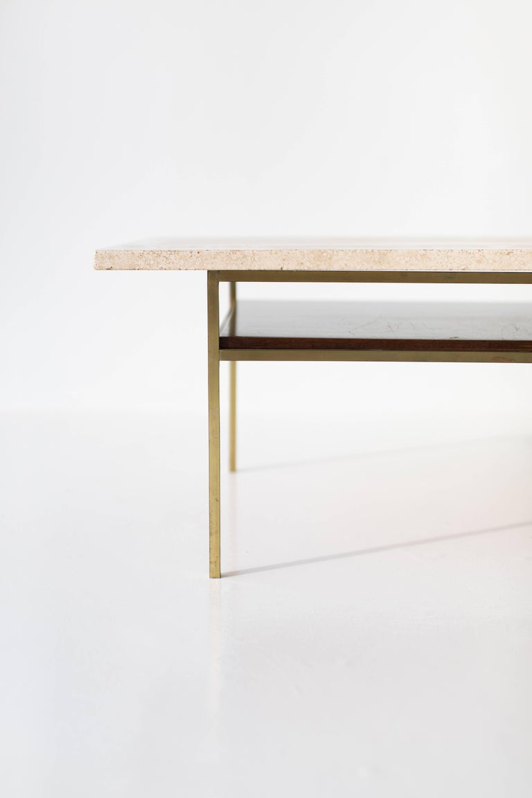 Paul McCobb Brass Coffee Table for Calvin Irwin Collection For Sale 2