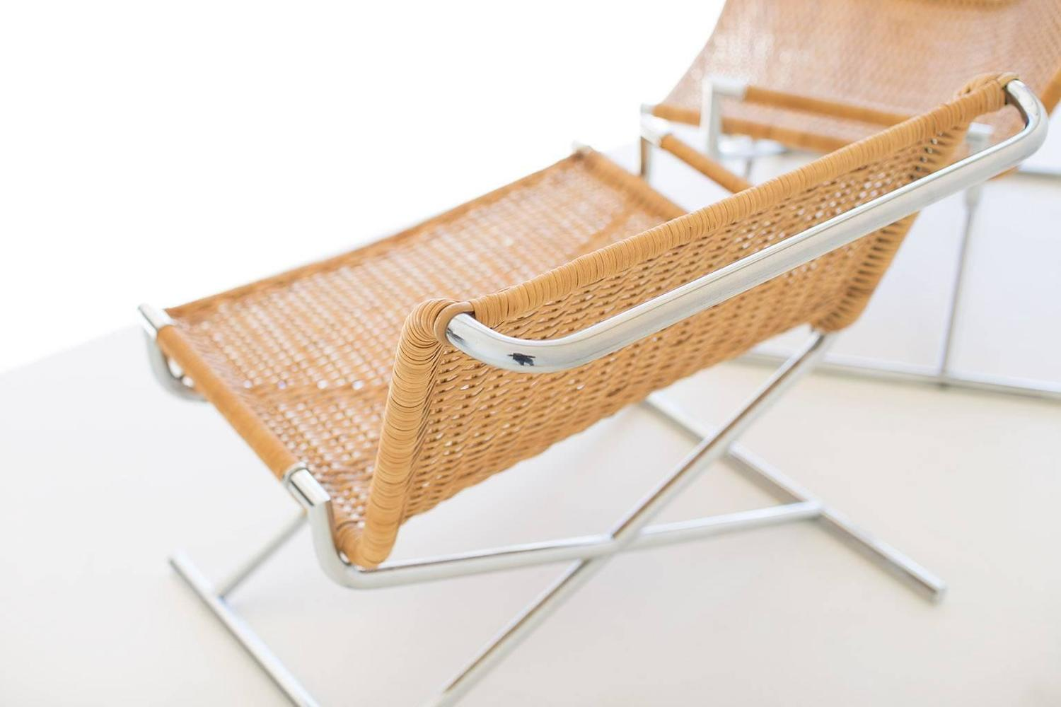 Ward Bennett Wicker Lounge Chairs for Brickell at 1stdibs