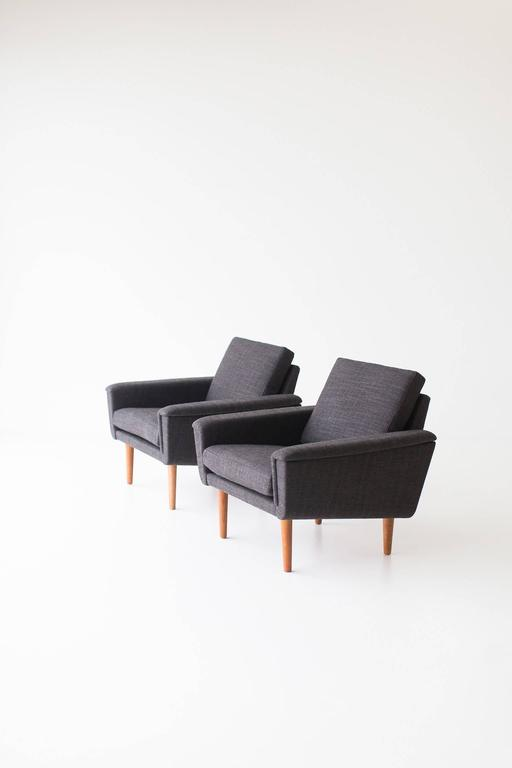 Mid-Century Modern Folke Ohlsson Lounge Chairs for DUX For Sale