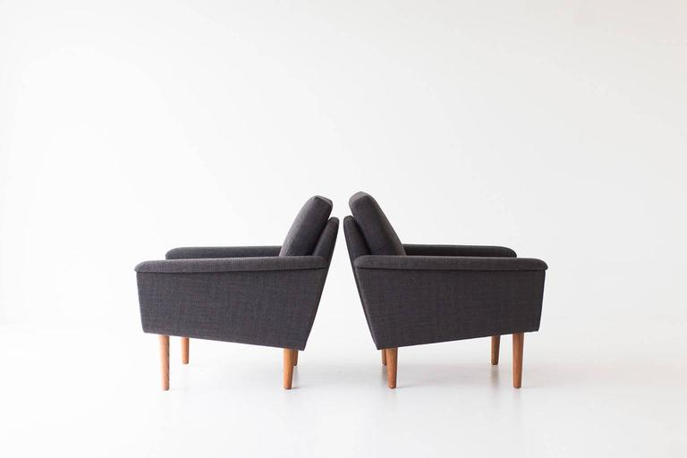 Fabric Folke Ohlsson Lounge Chairs for DUX For Sale