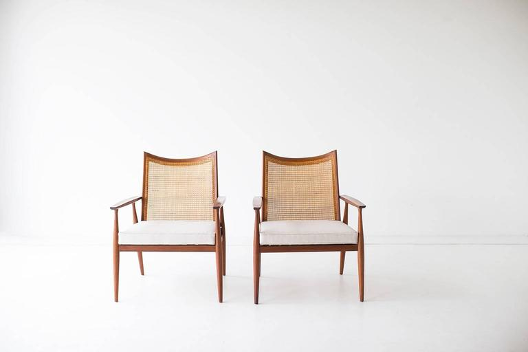Cane Paul McCobb Lounge Chairs for Winchendon, Planner Group Series