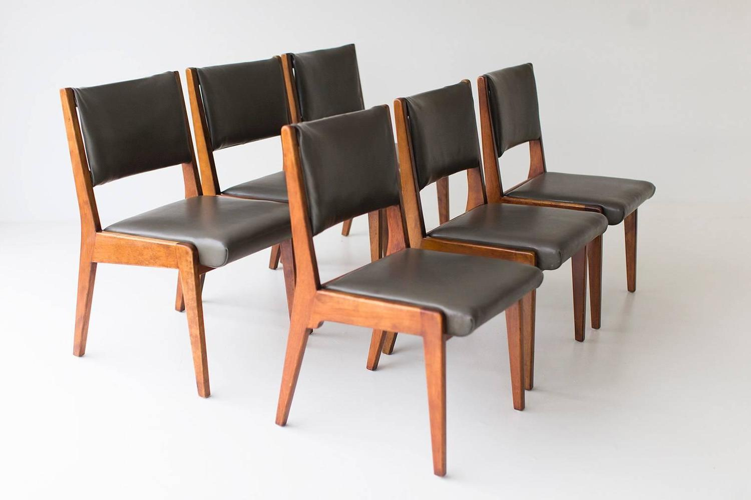 Early jens risom dining chairs for sale at 1stdibs - Jens risom dining chairs ...