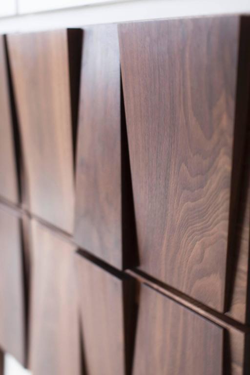 Walnut Modern Dresser - 1608 - Craft Associates® Furniture For Sale