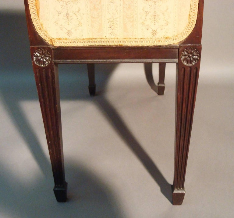 George III Pair of Mahogany Window Seats In Good Condition For Sale In Moreton-in-Marsh, Gloucestershire