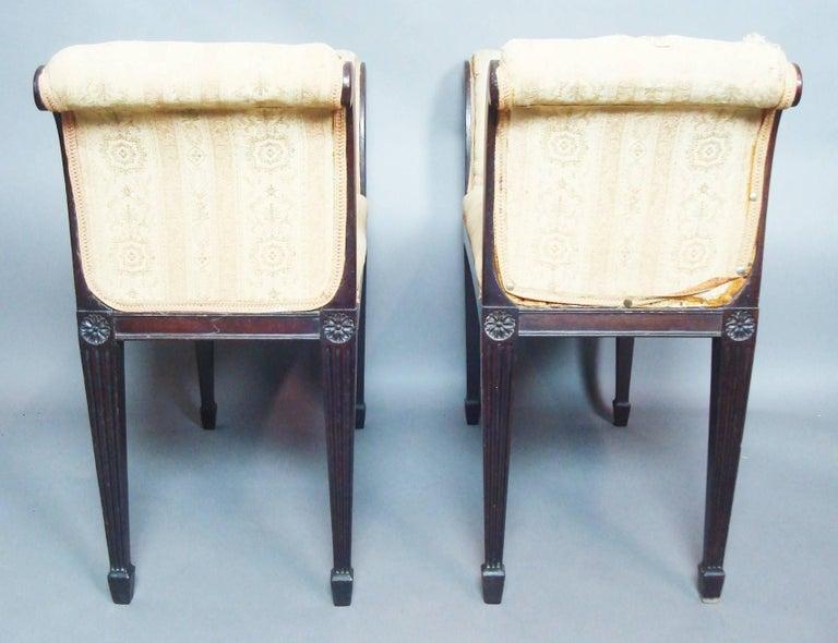 George III Pair of Mahogany Window Seats For Sale 2