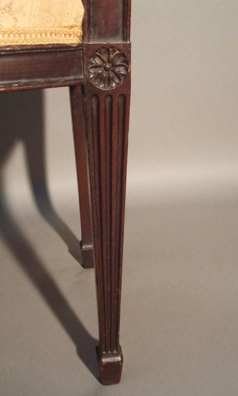 George III Pair of Mahogany Window Seats For Sale 1