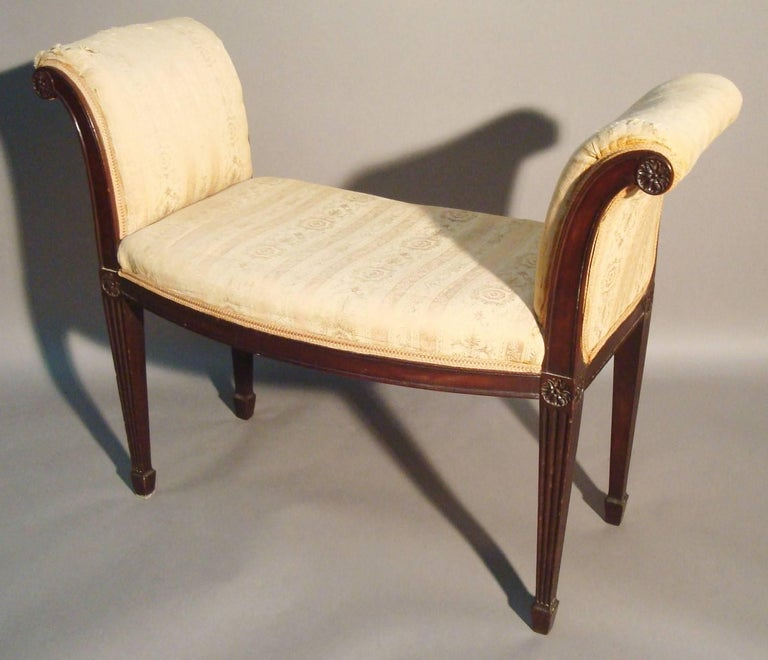 English George III Pair of Mahogany Window Seats For Sale