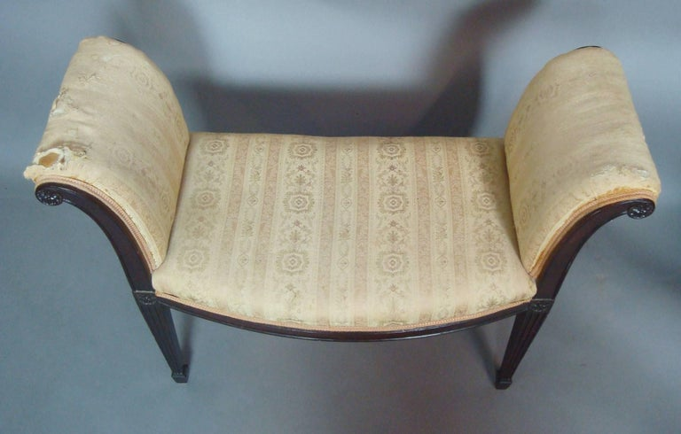 George III Pair of Mahogany Window Seats For Sale 4