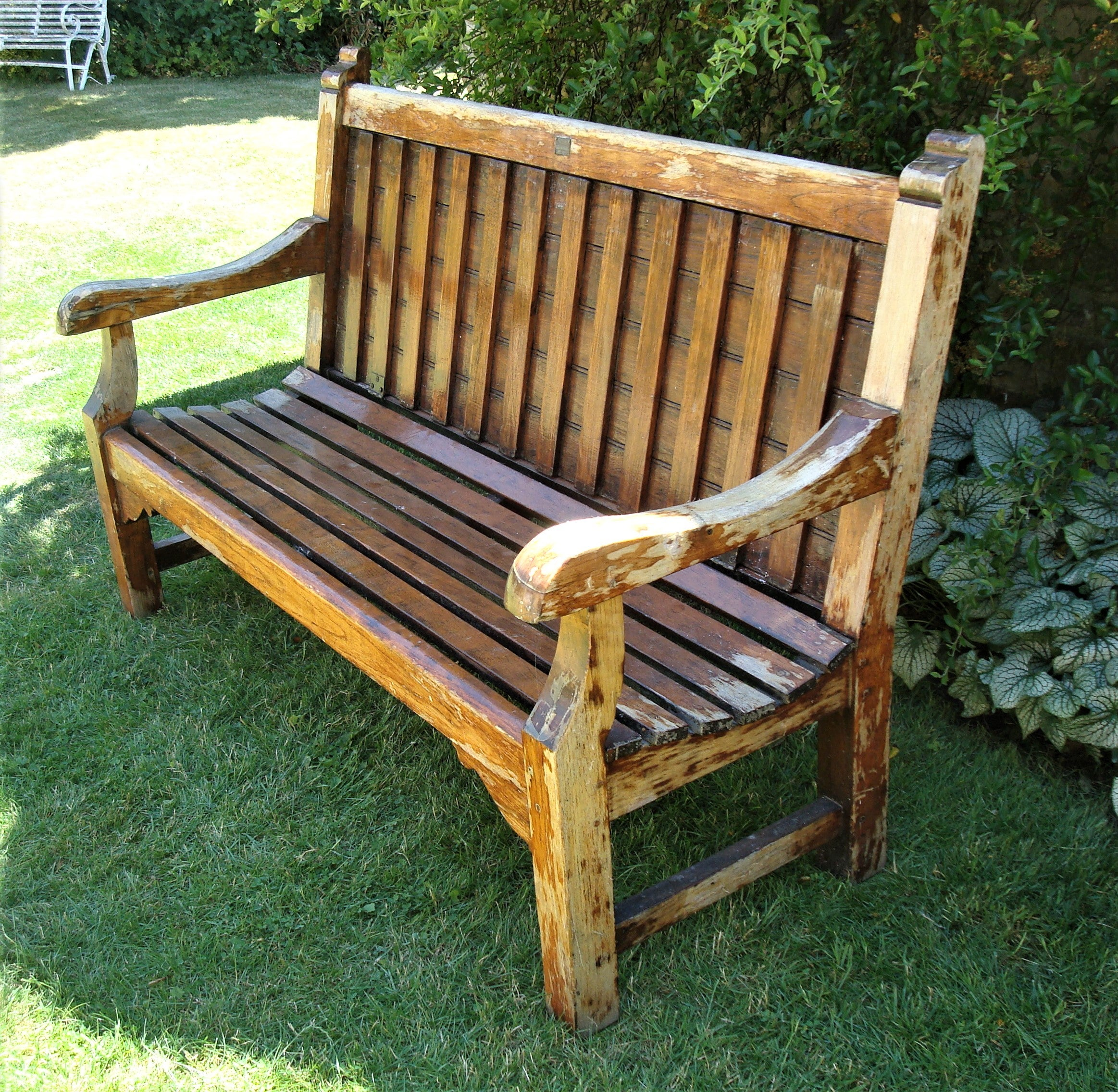 Early 20th Century Teak Ship\'s Bench from HMS Defiance For Sale at ...