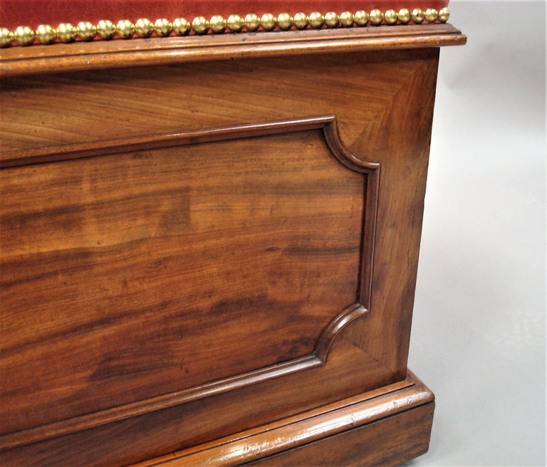 William IV Mahogany and Leather Box Stool For Sale 6