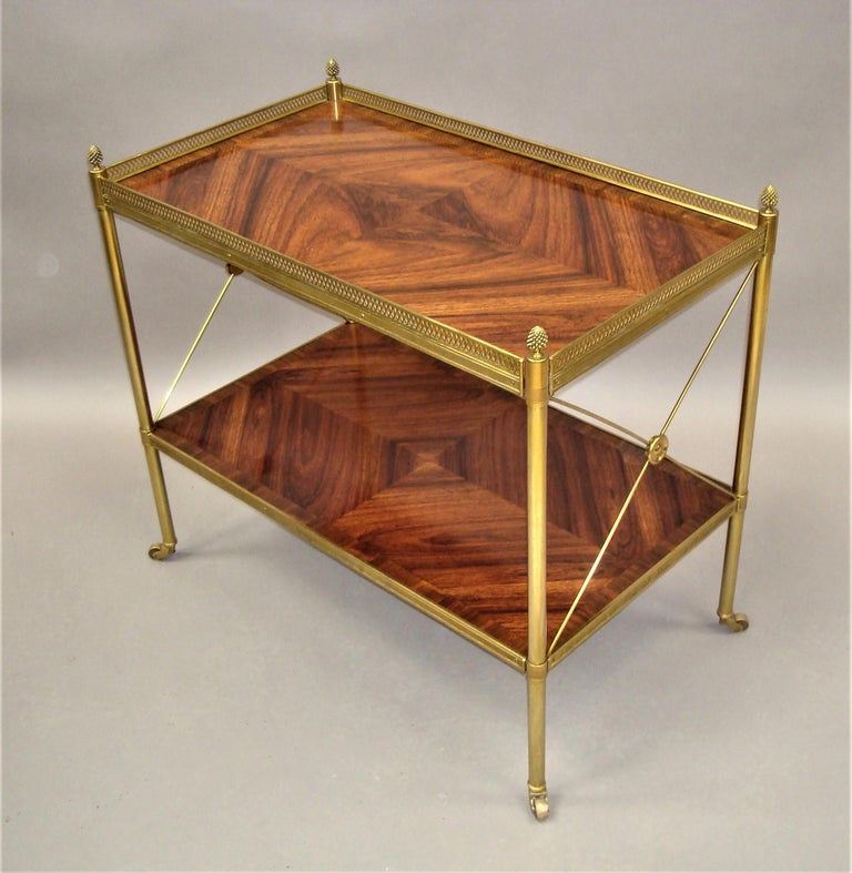 Early 20th Century French Kingwood and Gilt Brass Étagère In Good Condition For Sale In Moreton-in-Marsh, Gloucestershire