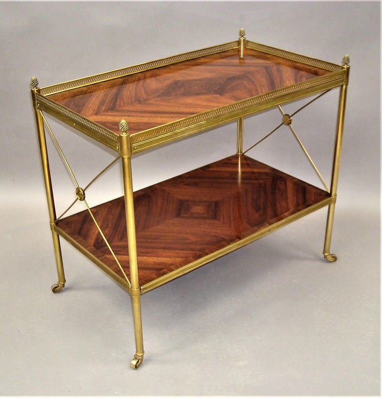 Early 20th Century French Kingwood and Gilt Brass Étagère For Sale 1