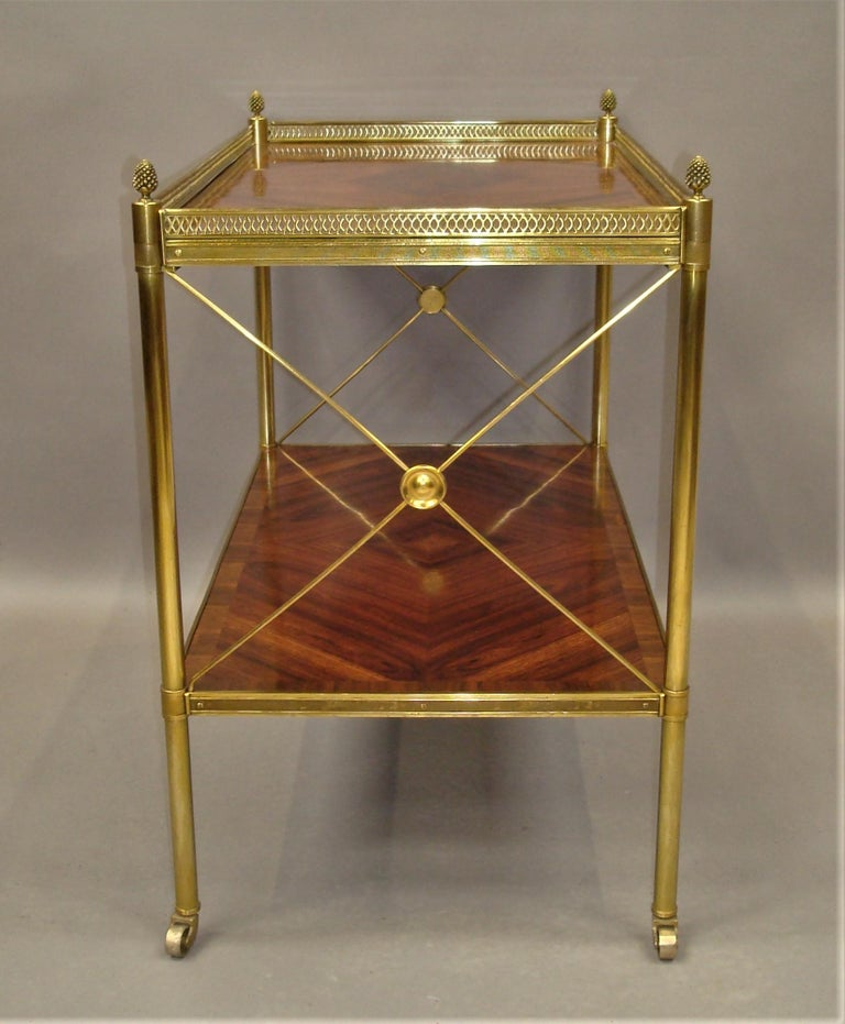 Early 20th Century French Kingwood and Gilt Brass Étagère For Sale 2