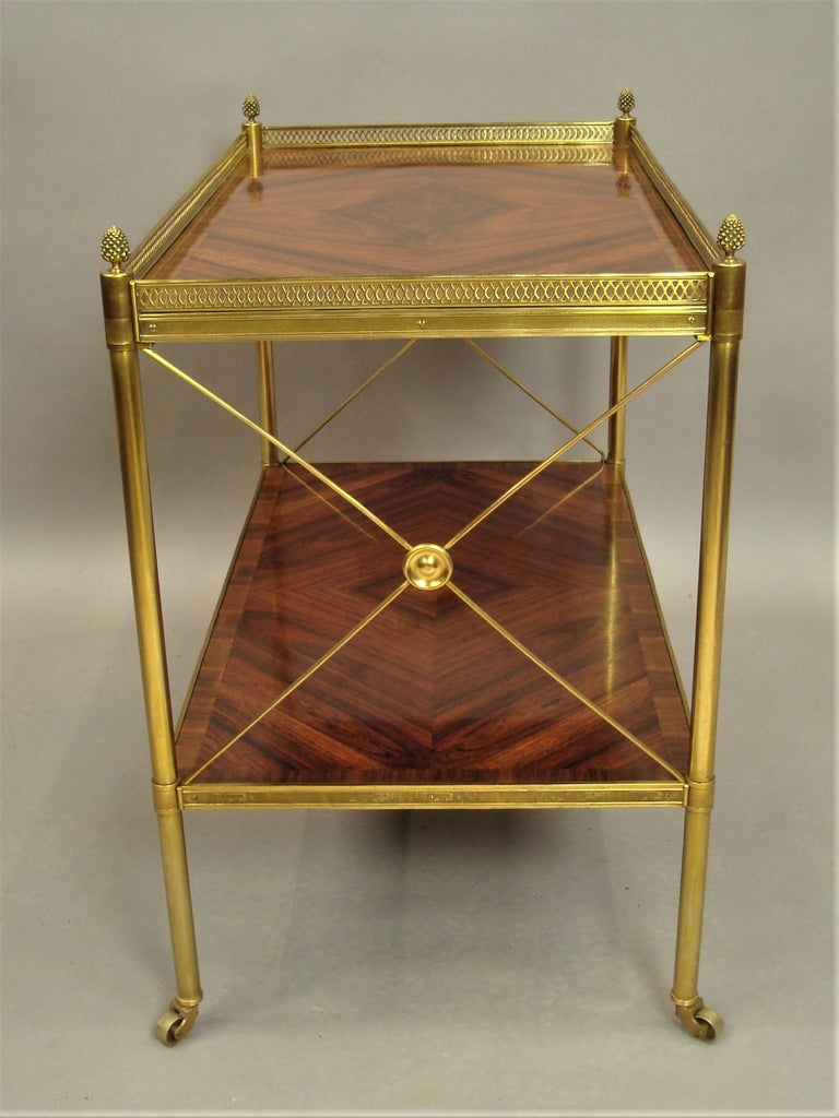 Early 20th Century French Kingwood and Gilt Brass Étagère For Sale 3