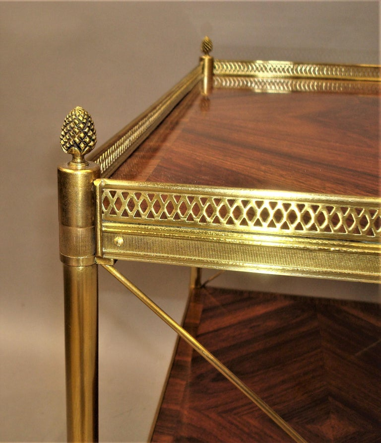 Early 20th Century French Kingwood and Gilt Brass Étagère For Sale 6