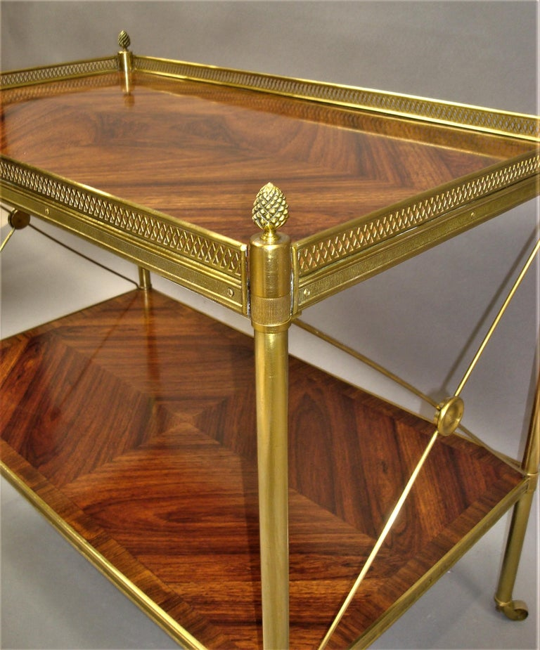 Early 20th Century French Kingwood and Gilt Brass Étagère For Sale 7