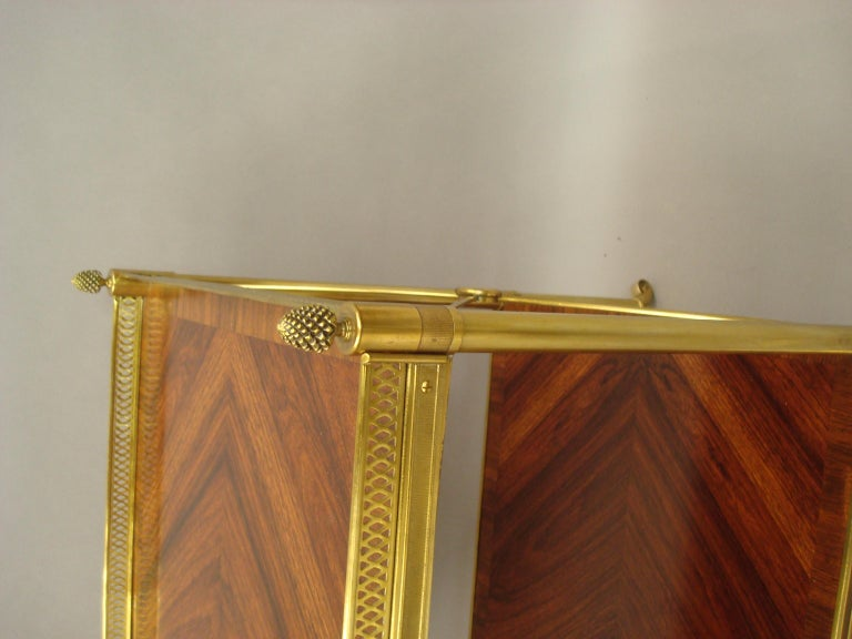 Early 20th Century French Kingwood and Gilt Brass Étagère For Sale 9