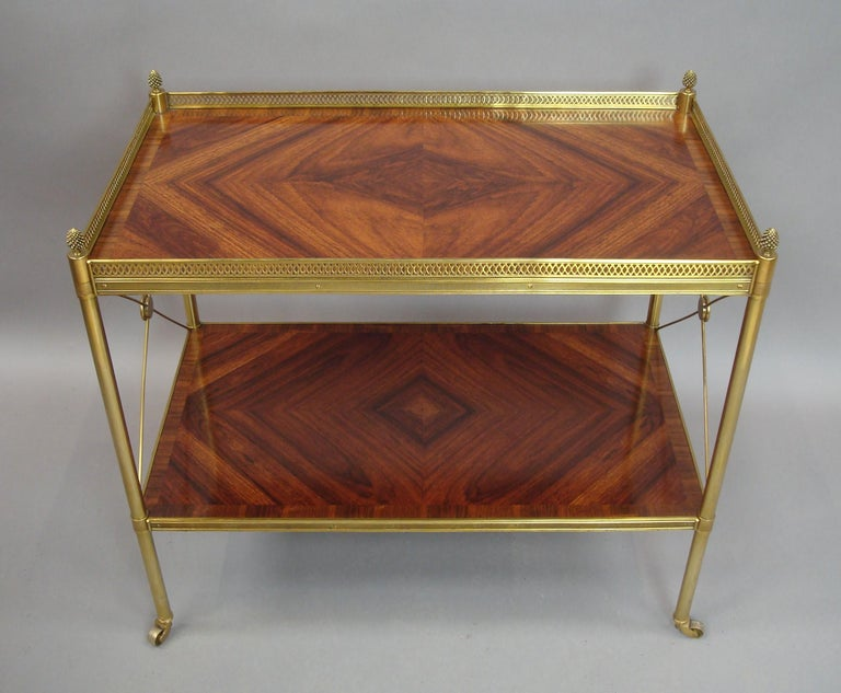 Early 20th Century French Kingwood and Gilt Brass Étagère For Sale 11