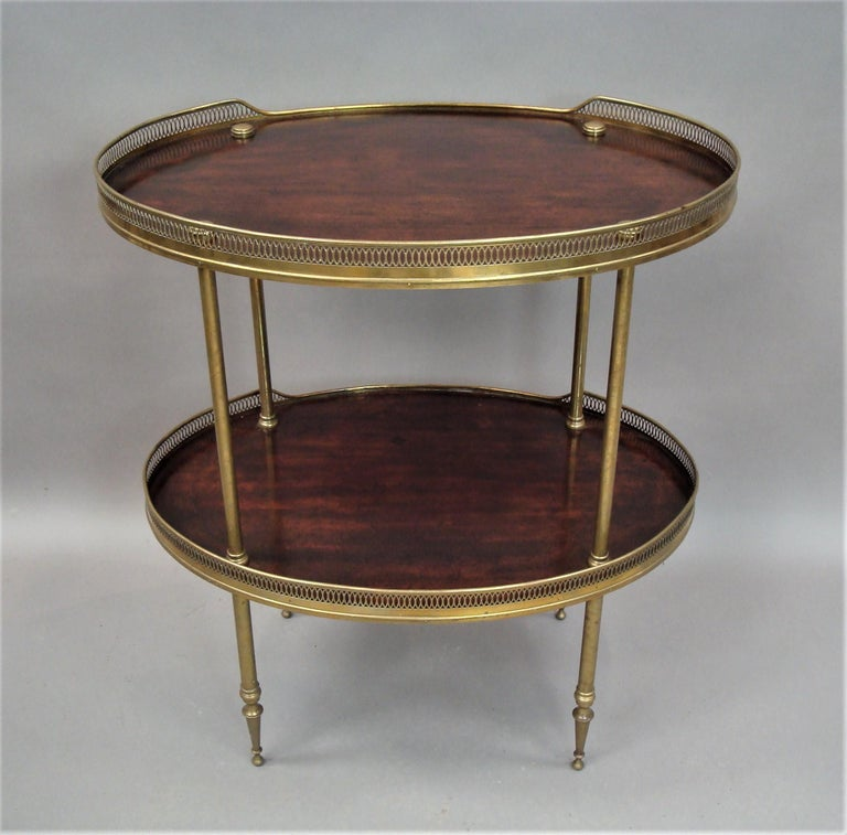 Late 19th Century Mahogany and Brass Oval Étagère  For Sale 2