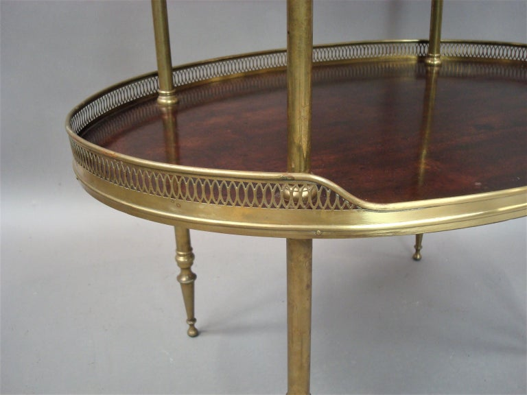 Late 19th Century Mahogany and Brass Oval Étagère  For Sale 6