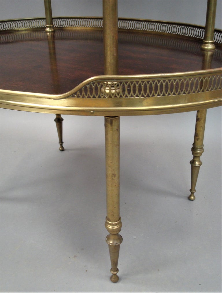 Late 19th Century Mahogany and Brass Oval Étagère  For Sale 9