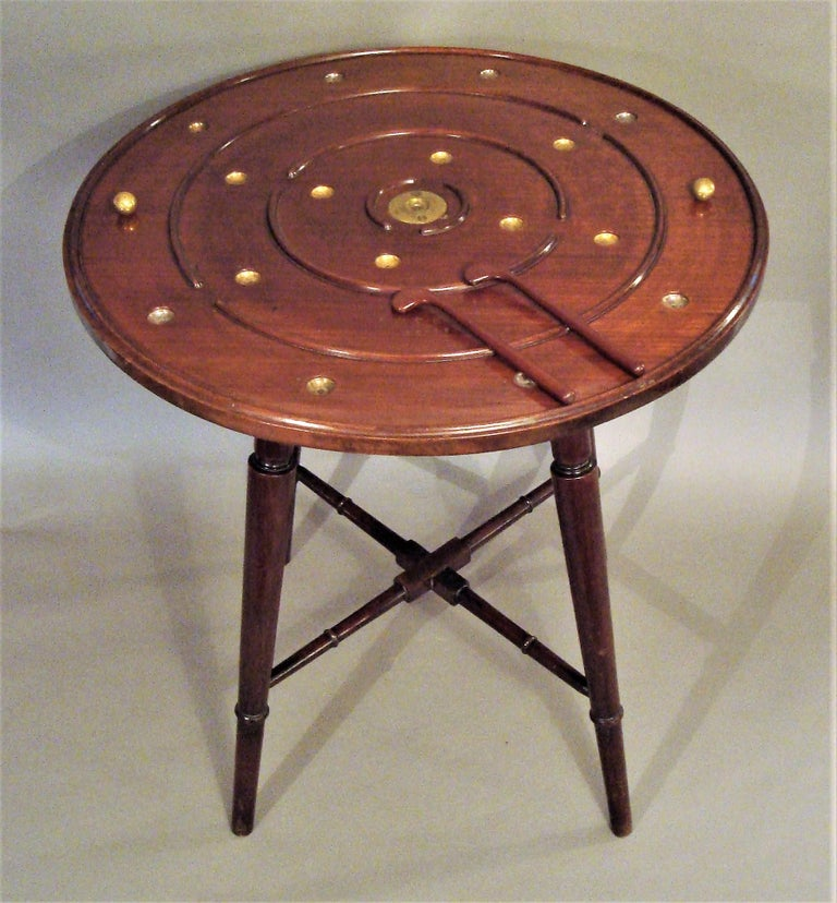 English Late 19th Century Mahogany Golf Game Table For Sale