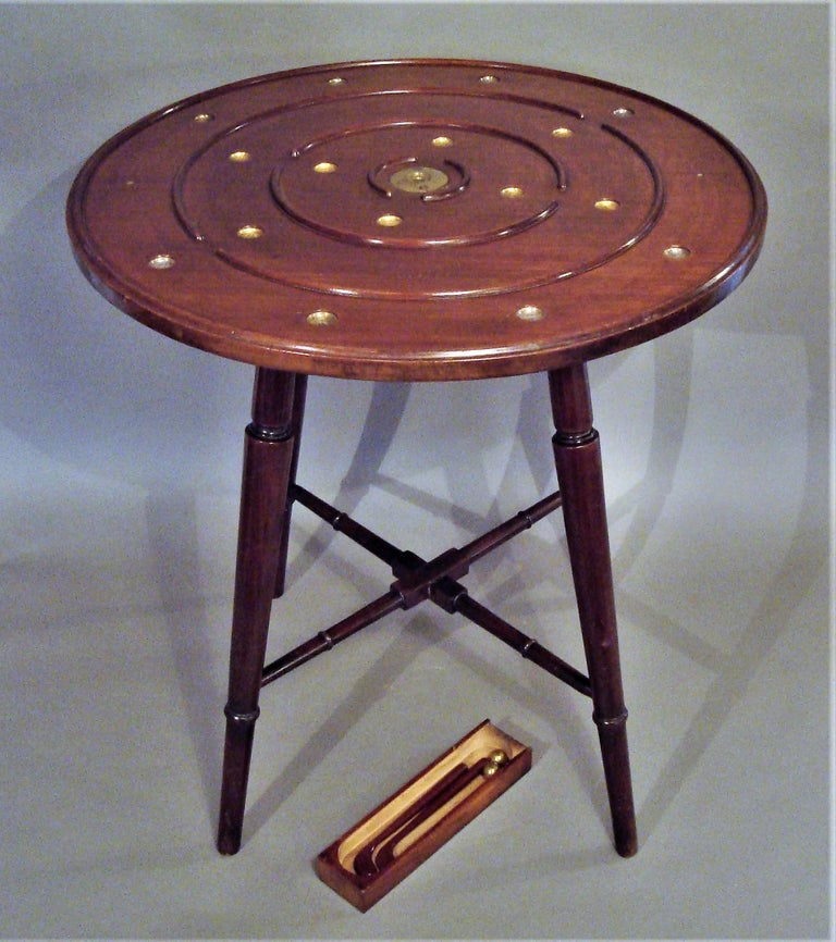 Polished Late 19th Century Mahogany Golf Game Table For Sale