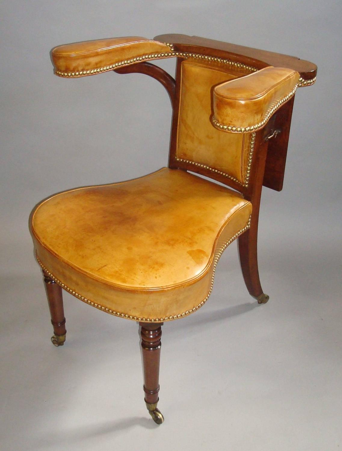 leather library chairs for sale regency mahogany and leather library or reading chair for 16646 | 2 z
