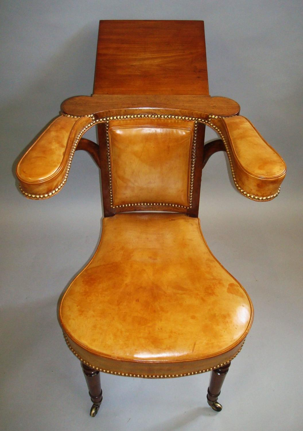 leather library chairs for sale regency mahogany and leather library or reading chair for 16646 | 5 z