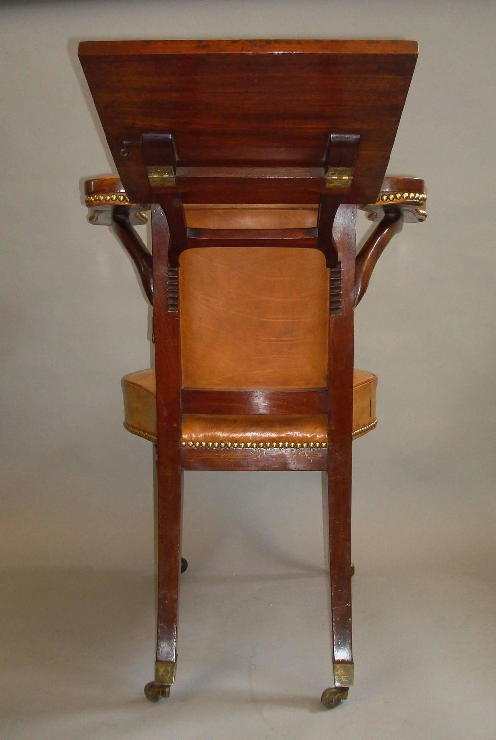 leather library chairs for sale regency mahogany and leather library or reading chair for 16646 | 8 z