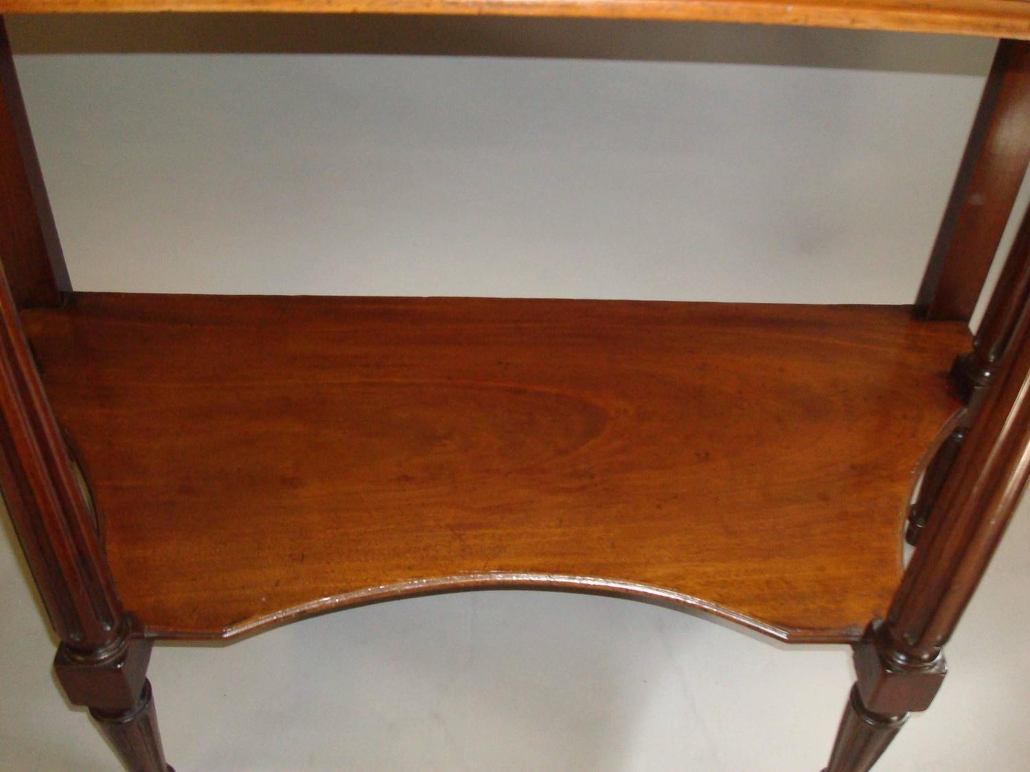 19th century french console table in mahogany and