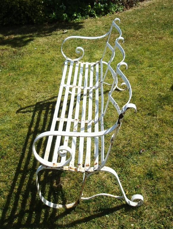 Regency Wrought Iron Garden Seat/ Bench For Sale 1