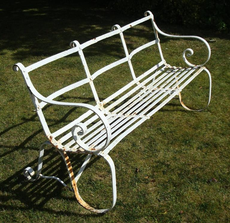 Regency Wrought Iron Garden Seat/ Bench For Sale 2