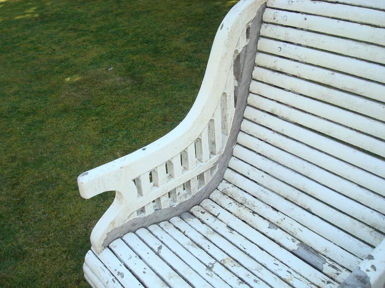 Early C20th Teak Garden Seat of Unusual Form For Sale 4