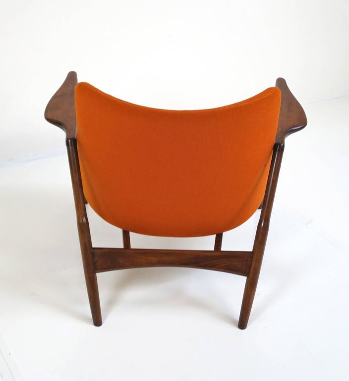 Rare Ib Kofod-Larsen Lounge Chair and Ottoman for Selig For Sale 3